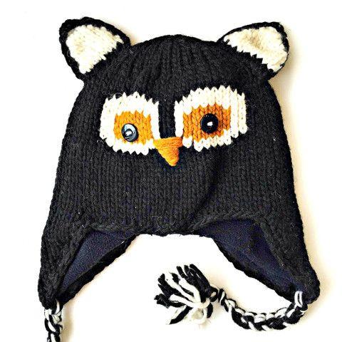 Zee Bee Market LLC - Kids Hand-knit Owl Hat
