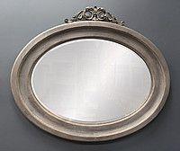 Овальное зеркало в деревянной раме Арт №3