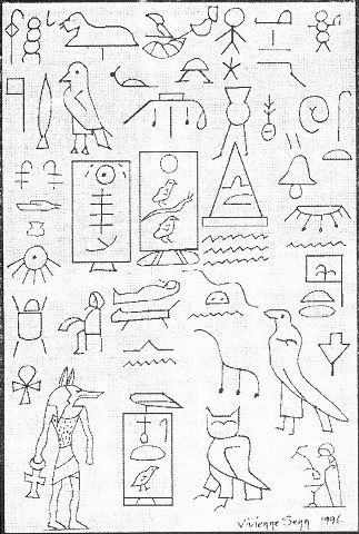 Amazing hieroglyphs in Australia.  A group of Egyptian explorers that were stranded.