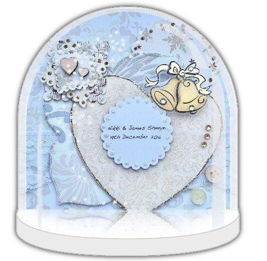 Snow globe, Personalised wedding gift, wedding favour, personalised snow globe, wedding gift, wedding keepsake, bridesmaids gift, UK Shop