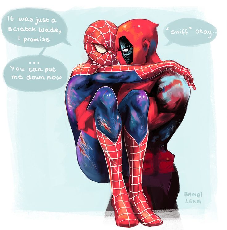 Spideypool by bambi-lena on DeviantArt