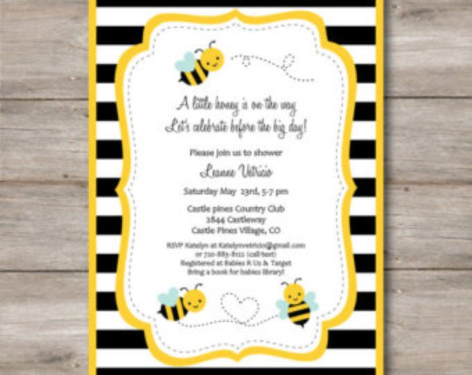 Bumble Bee Invitation for Shower/ Bumble Bee invitation for Birthday/ Honey Bee Invite/ Bee Invitation with Editable Text to Print at Home