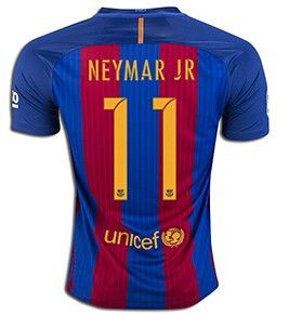 Barcelona 2016/17 Home Men Soccer Jersey NEYMAR JR #11