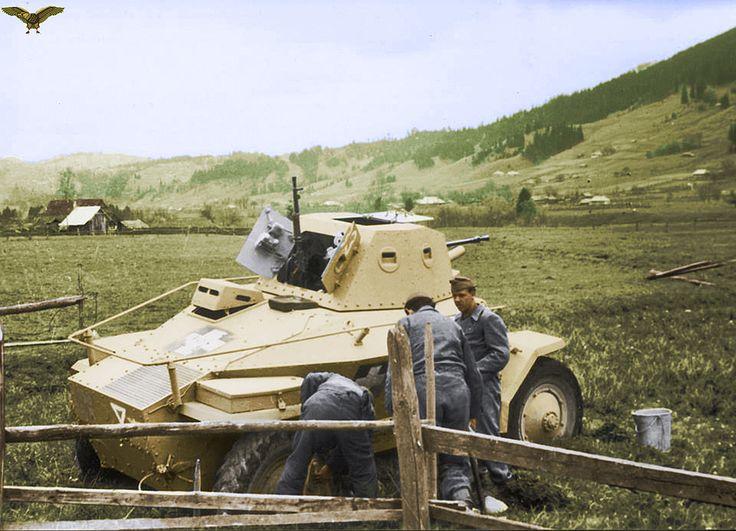 Csaba armored car in Galicia.