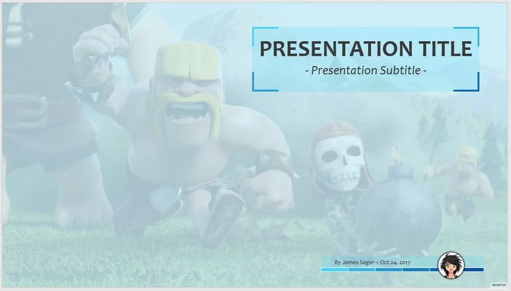 Clash Of Clans PPT - Free PowerPoint Templates by SageFox