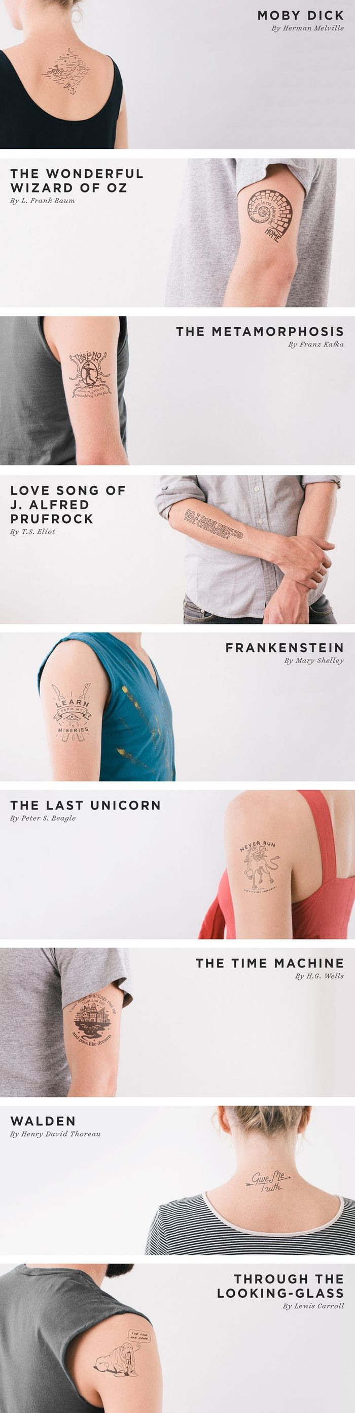 A beautiful collection of (temporary) literary tattoos, and a chance to join the World's Longest Tattoo Chain. Get more information: http://www.litographs.com/ More information and pre-order at: http://kck.st/WJ0qhd