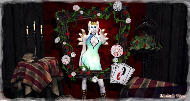 https://flic.kr/p/N6hGq5   Michaela - Halloween 2016 - Scene 4   Queen of Hearts  Location: Vixen's Creative Studios Photographer & Model: Michaela Vixen (VampBait69) Set Design & Creation: Michaela Vixen (VampBait69)  Vixen's Log - More Info & Credits Here