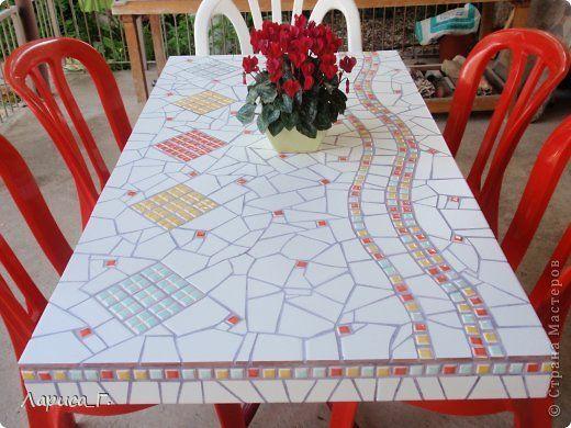 Интерьер Мозаика Мозаичные столы Материал бросовый Фанера фото 4