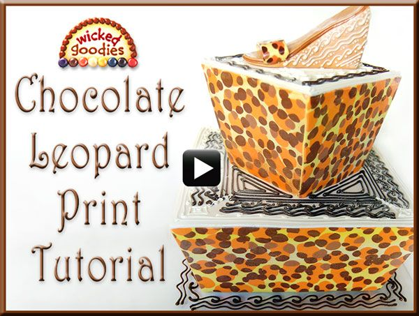 Wicked Goodies | Chocolate Cake Writing Video | http://www.wickedgoodies.net