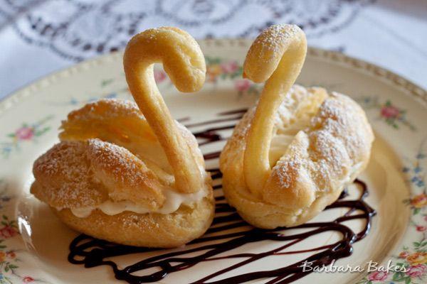 Cream Puff Swans   Barbara Bakes