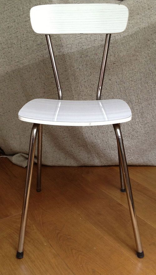#formica kitchen #chair || #80 #childhood #souvenir #memories #teenage #vintage || Follow http://www.pinterest.com/lcottereau/the-80s/