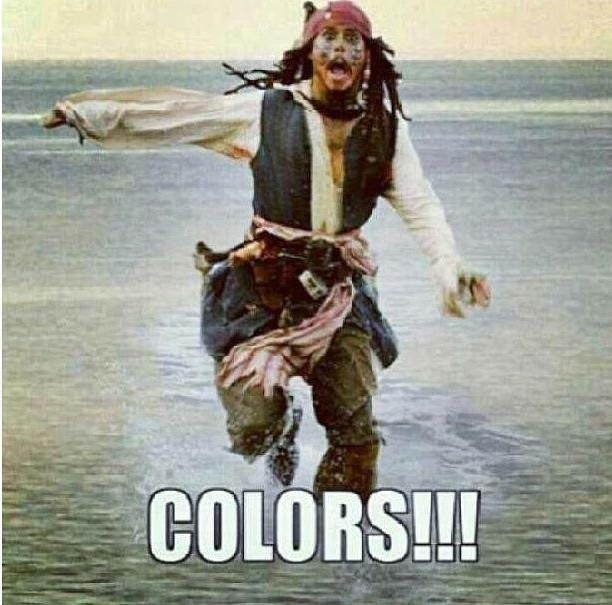 Colors!!!!  Marine Corps humor lol