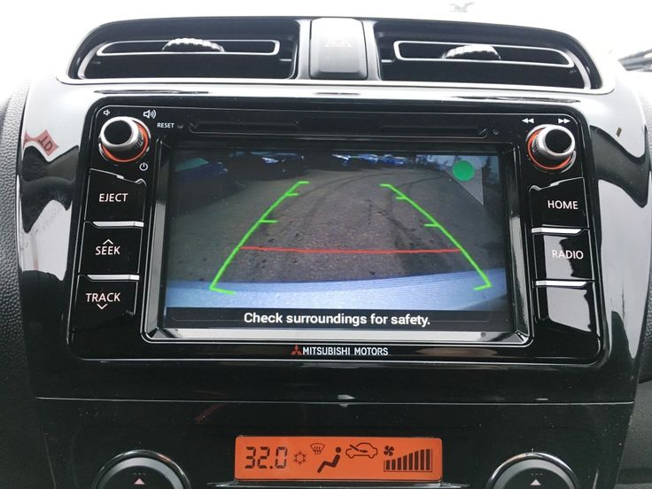 Backup camera in the 2017 Mitsubishi Mirage SEL, learn more at www.mitsu.ca
