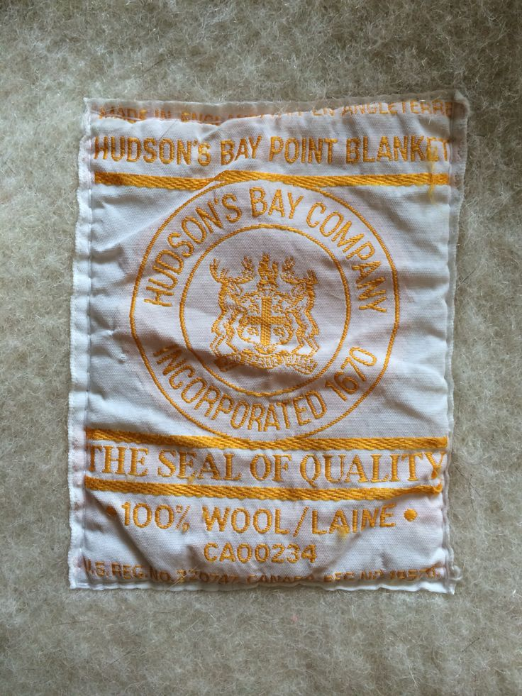 Determining age and value of Hudson Bay Blanket - The eBay Community