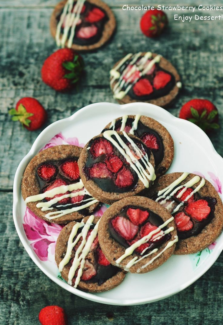 Chocolate & Strawberry Cookies