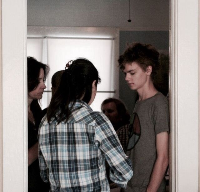 Thomas Brodie-Sangster on the set of 'My Left Hand Man'