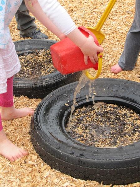birdseed tire gardens