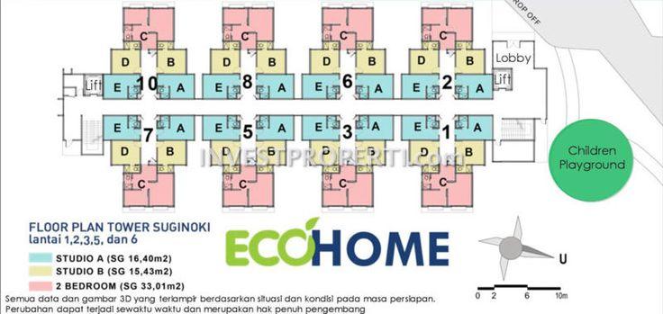 Siteplan Apartemen EcoHome CitraRaya Tangerang