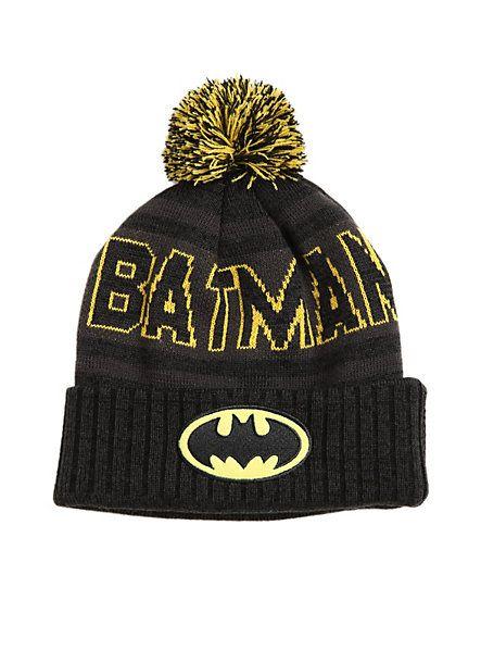 DC Comics Batman Fold-Over Pom Beanie | Hot Topic