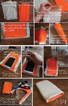 D.I.Y Make your own phone pouch for under a fiver!