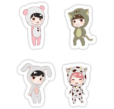 Jin, V, Jungkook and Jimin of BTS / Fanart • Also buy this artwork on stickers.