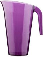 Aubergine purple plastic pitcher jug from Mozaik by Sabert, perfect for entertaining or for casual occasions such as barbeques or picnics and look great mixed with our other colours such as raspberry pink or lime green. Designed to be disposable but can be reused with careful washing.