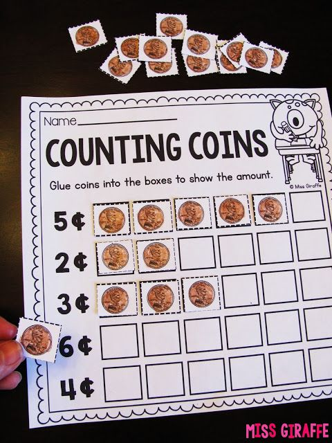 AMAZING money resources for coins!! This cut and paste is for adding pennies and there are SO many more ideas - save this link!!!