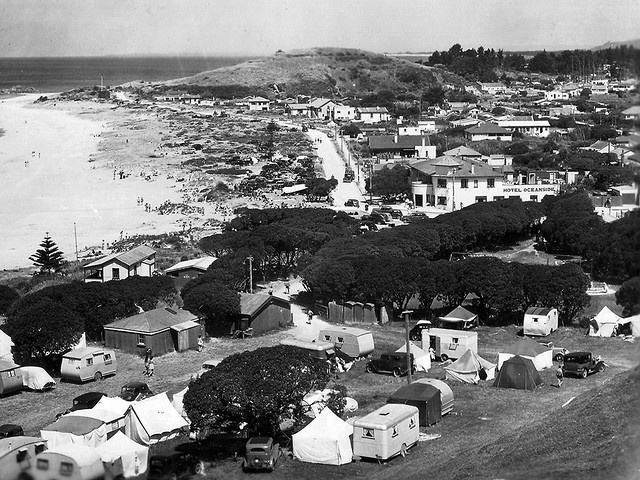 Mount Maunganui Domain motor camp by traveltrailersnz, via Flickr