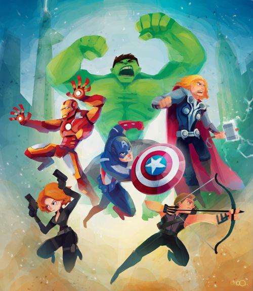 : Avengers Assemble, Marvel, Super Heros, Art, Comic Book, Superheroes, Super Heroes, The Avengers