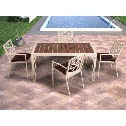 Mesa de jardín Cádiz - mesas de forja modernas