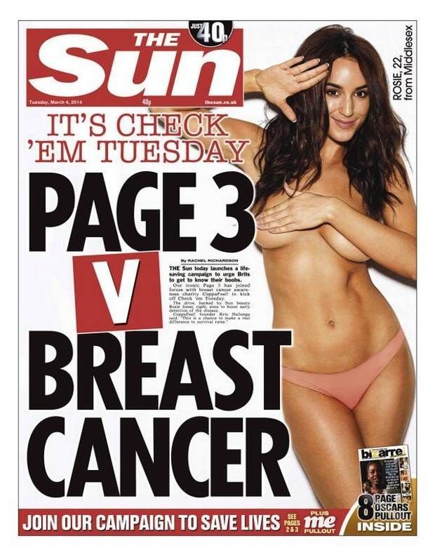 Read The Letter A Woman With Breast Cancer Sent To The Sun Slamming Its Sexist Page 3 Campaign