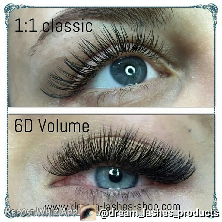 the difference between classic and volume sets eyelash
