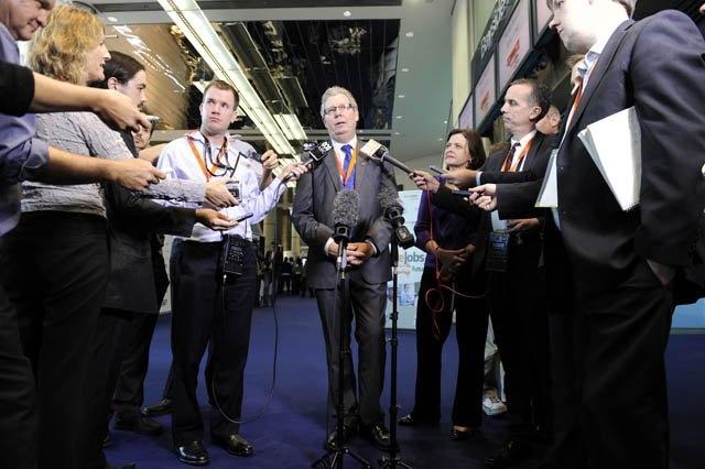 Dave Oliver, ACTU Secretary, during a press conference at ACTU Congress 2012.