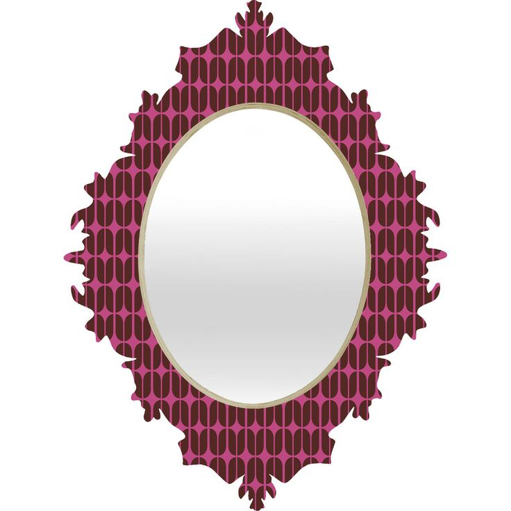 Mod Mulberry Baroque Mirror   DENY Designs Home Accessories #denydesigns #mirror #apartment #home #dorm #office #living #midcentury