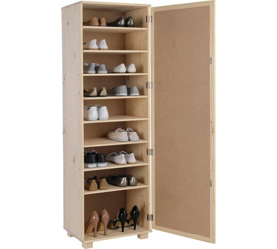 Buy HOME Mirrored Shoe Storage Cabinet - Solid Unfinished Pine at Argos.co.uk - Your Online Shop for Shoe storage, Storage, Home and garden.