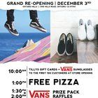 Free Pizza @ All Tillys Stores - Saturday (Dec 3) @1pm  Vans Prize Pack Raffles @1:30 & 2pm!