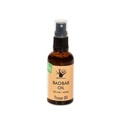 Eco Products Baobab Oil is a healing tissue oil that repairs and strengthens skin and hair cells. Its amazing properties include a wide range of vitamins as well as omega 3, 6 and 9.