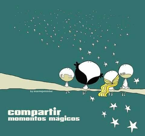 El regalo infinito de compartir... momentos mágicos. lluvia de estrellas*