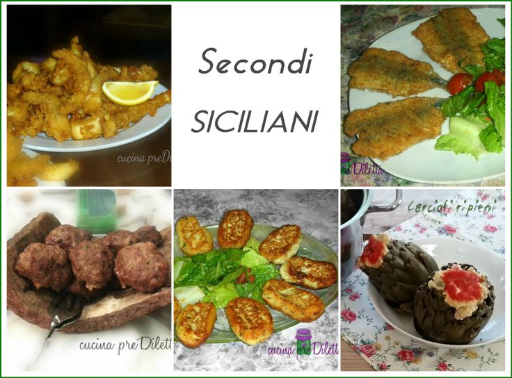 Raccolta ricette di secondi piatti siciliani, per non dimenticare la tradizione. Ricette a base di pesce, carne, uova cucinate seguendo i metodi delle...