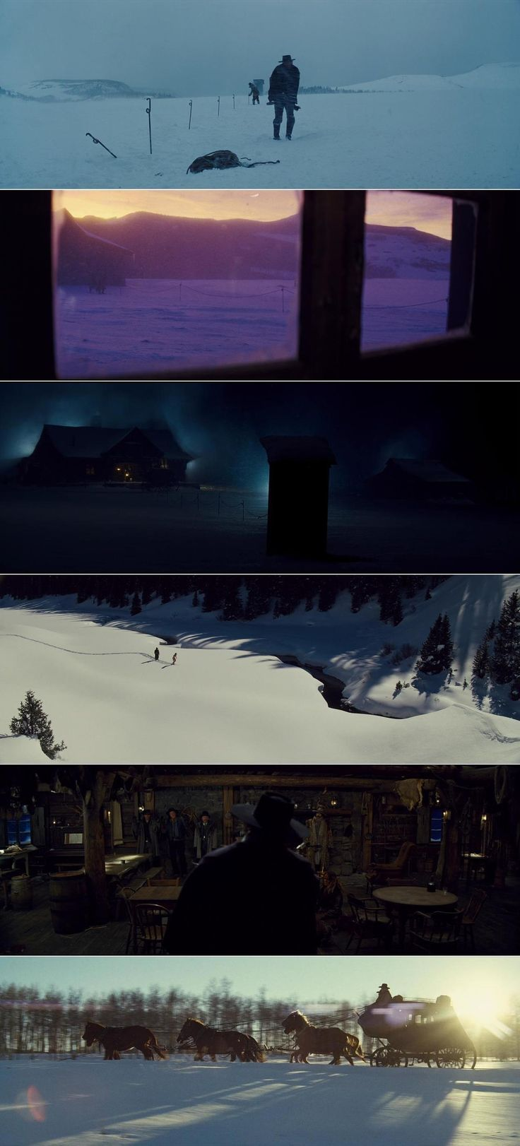The Hateful Eight (2015) | Cinematography by Robert Richardson | Directed by Quentin Tarantino