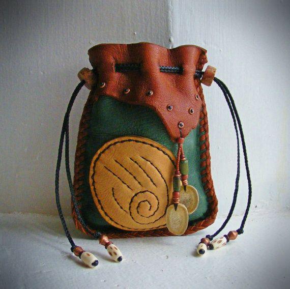 BEAR CLAW deerskin Medicine Bag, Spirit Pouch, talisman totem spirit guide, Bear…