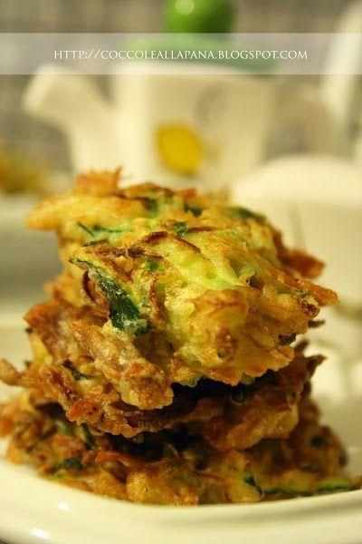 Frittelline in pastella fingerfood, come ti reciclo il pollo lesso con le zucchine!