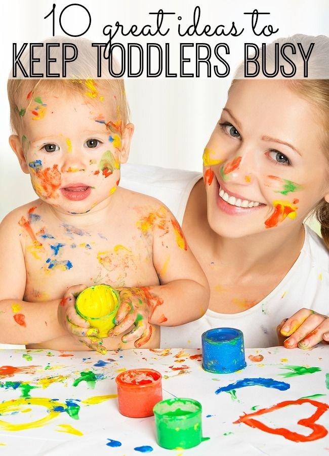 Here are 10 great ideas to keep your toddlers busy for (at least) 10 minutes!