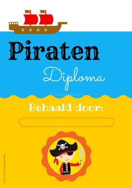 Piraten diploma jongen gratis download I Creatief lifestyle blog Badschuim