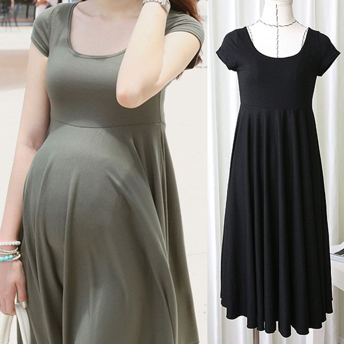 Summer Fashion Maternity Dresses Clothes For Pregnant Women Clothing O-neck Short Sleeve 4 Colors Slim Pregnancy Dress Wear 2017