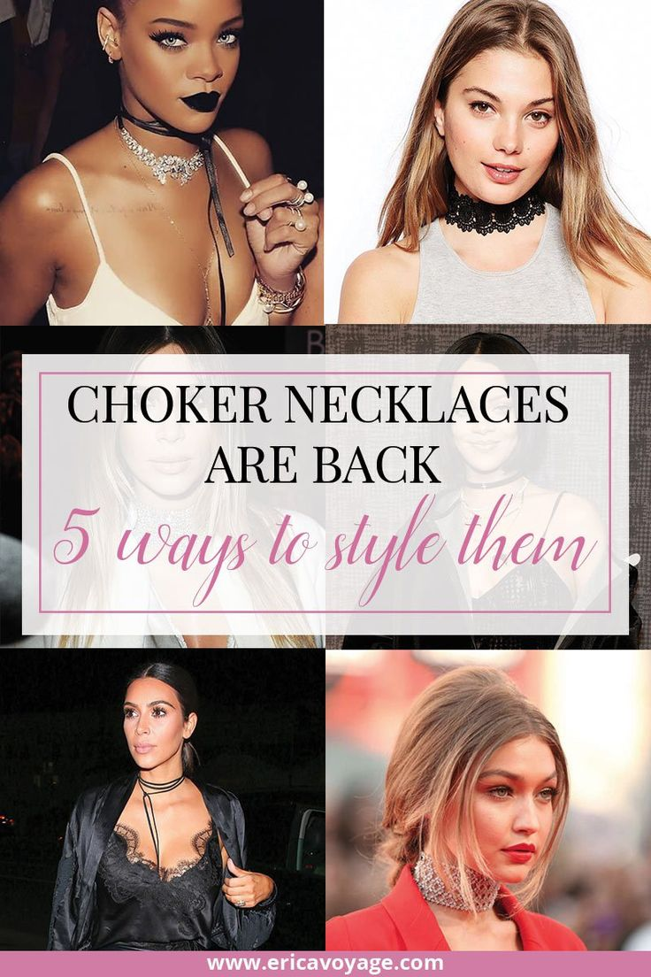 Choker necklaces are back: 5 ways to style this '90s trend