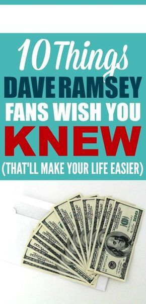 10 Things Dave Ramsey Fans Wish You Knew Budgeting Pinterest - zero based budget spreadsheet dave ramsey