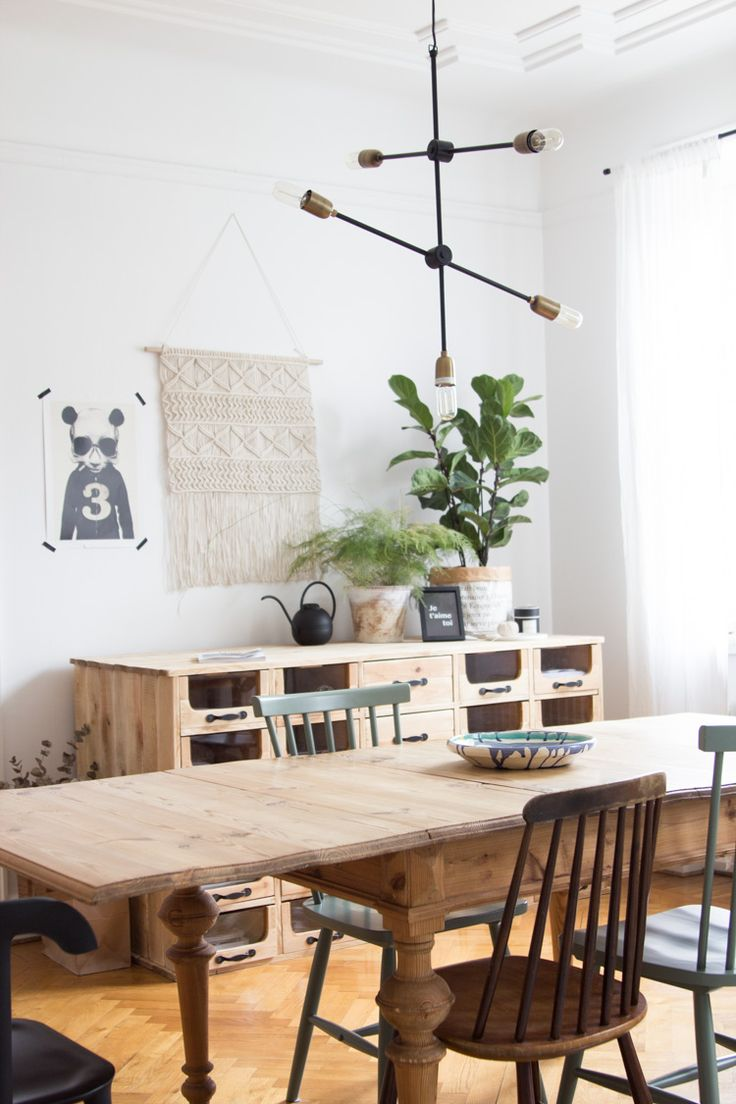 The inspiring dining area of an interior designer
