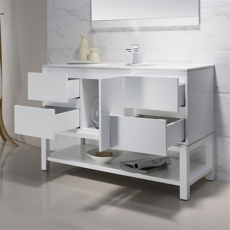 Photos On Modern Bathroom Vanity Emmet with Porcelain Top