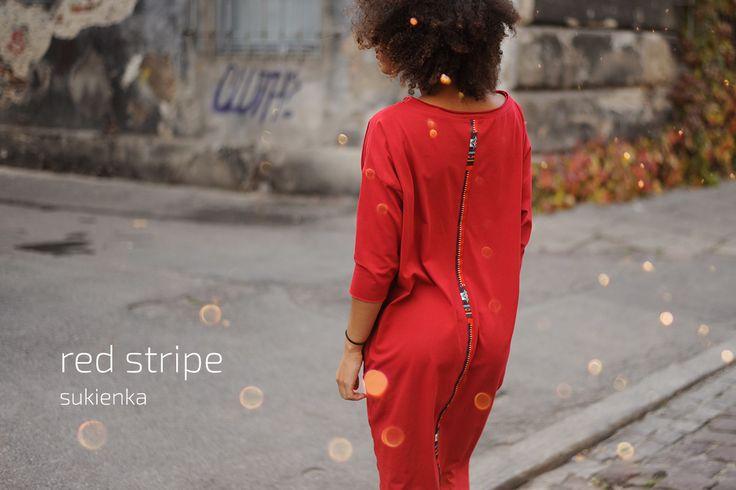 Red Stripe Dress #red #dress #stripe #kokoworld #madeinpoland